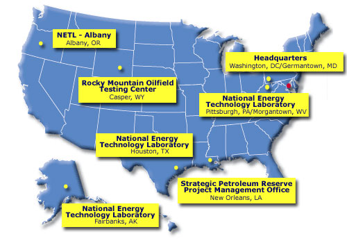 Office of Fossil Energy Labs and Facilities