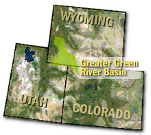 Greater Green River Basin Map